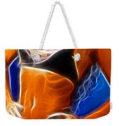 Superman 1 Fractal Weekender Tote Bag by Gary Gingrich Galleries