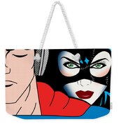 Superman And Catwoman  Weekender Tote Bag by Mark Ashkenazi