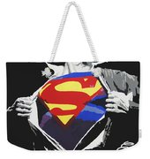Superman Weekender Tote Bag by Erik Pinto