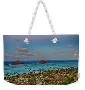 Supermoon Moonrise Weekender Tote Bag