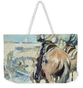 Supply Wagons Weekender Tote Bag by Newell Convers Wyeth