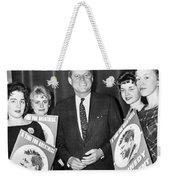 Supporters Greet Kennedy Weekender Tote Bag