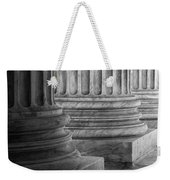 Supreme Court Columns Black And White Weekender Tote Bag