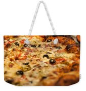 Supreme Meat Works Pizza  Sliced And Ready To Eat Weekender Tote Bag