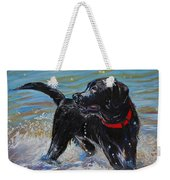 Surf Pup Weekender Tote Bag by Molly Poole