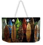 Surfboard Fence 4 Weekender Tote Bag