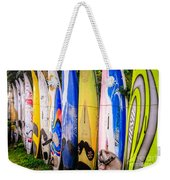 Surfboard Fence Maui Hawaii Weekender Tote Bag by Edward Fielding