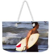 Surfer And The Birds Weekender Tote Bag