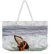 Surfer Catch The Wave Weekender Tote Bag