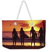 Surfer Girl Silhouettes Weekender Tote Bag