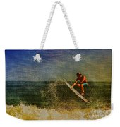 Surfer In Oil Weekender Tote Bag
