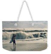 Surfer Watch Weekender Tote Bag by Laura Fasulo