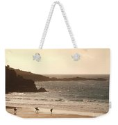 Surfers On Beach 03 Weekender Tote Bag
