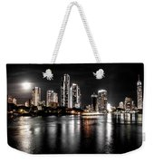 Surfers Paradise Night Reflections Weekender Tote Bag