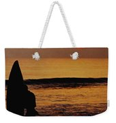 Surfing At Sunset Weekender Tote Bag by Anonymous