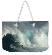 Surfing Jaws The Wild Side Weekender Tote Bag
