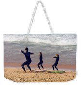 Surfing Lesson Weekender Tote Bag