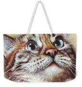 Surprised Kitty Weekender Tote Bag by Olga Shvartsur