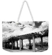 Surreal Augusta Georgia Black And White Infrared  - Riverwalk River Front Park Garden   Weekender Tote Bag