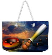 Surreal Dinner Served Over The Ocean Weekender Tote Bag