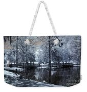 Surreal Dreamy Fantasy Nature Infrared Landscape - Edisto Park South Carolina Weekender Tote Bag