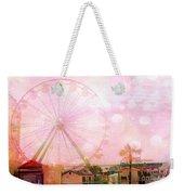 Surreal Dreamy Pink Myrtle Beach Ferris Wheel Weekender Tote Bag