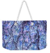 Surreal Patterned Bark In Blue Weekender Tote Bag