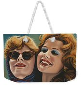 Susan Sarandon And Geena Davies Alias Thelma And Louise Weekender Tote Bag by Paul Meijering