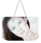 Actress And Model Susan Ward Blue Eyed Beauty With A Mole Weekender Tote Bag