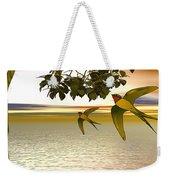 Swallows At Sunset Weekender Tote Bag