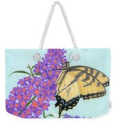 Swallowtail Butterfly And Butterfly Bush Weekender Tote Bag