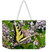 Swallowtail On Lilacs Weekender Tote Bag
