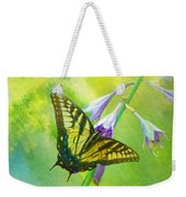 Swallowtail Visits Hosta Flowers Weekender Tote Bag