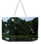 Swamp Cypress Trees Digital Oil Painting Weekender Tote Bag