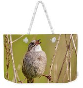Swamp Sparrow Split Decision Weekender Tote Bag