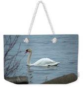 Swan A Swimming Weekender Tote Bag