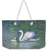Swan And One Baby Weekender Tote Bag