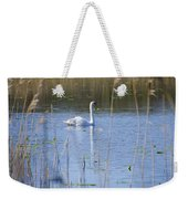 Swan At Derryallen Lough Weekender Tote Bag