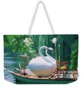 Swan Boats In A Lake, Boston Common Weekender Tote Bag