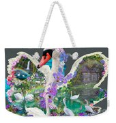 Swan Day Dream Weekender Tote Bag by Alixandra Mullins