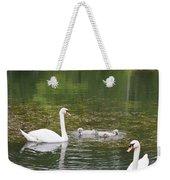 Swan Family Squared Weekender Tote Bag