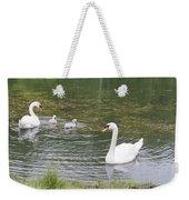 Swan Family Weekender Tote Bag by Teresa Mucha