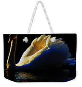 Swan In Golden Light Weekender Tote Bag