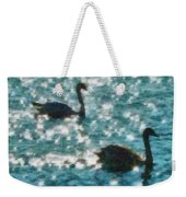 Swan Lake Weekender Tote Bag by Ayse Deniz