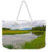 Swan Lake In Grand Teton National Park-wyoming  Weekender Tote Bag