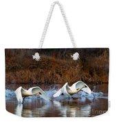 Swan Lake Weekender Tote Bag by Mike  Dawson