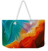 Swan Nebula Weekender Tote Bag by Barbara McMahon
