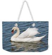 Swan On Blue Waves Weekender Tote Bag