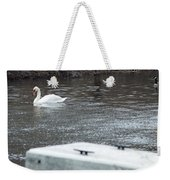 Swan On The Water Weekender Tote Bag