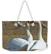 Swan Pair Weekender Tote Bag
